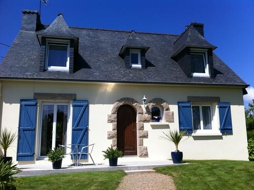Fenêtres PVC blanc - Maison néo bretonne
