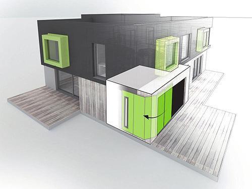 Les portes de garage sectionnelles latérales Aludoor: la solution pour du neuf ou de la rénovation