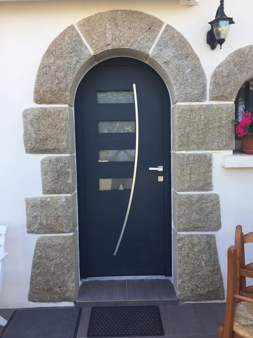 Porte d''entrée alu - Saint Quay Portrieux (22)