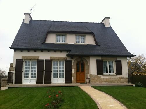 Rénovation : fenêtres alu gris anthracite - Créhen