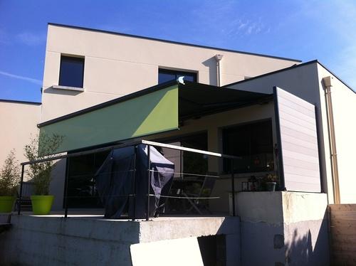 Store extérieur pour terrasse - Morieux - Lamballe - Menuiserie