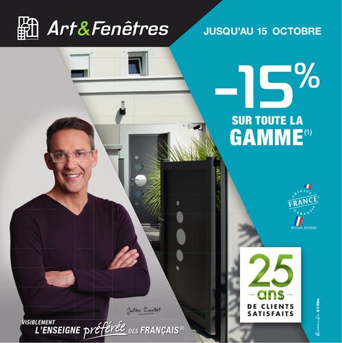 - 15 % sur toute la gamme Art & Fenêtres (1)