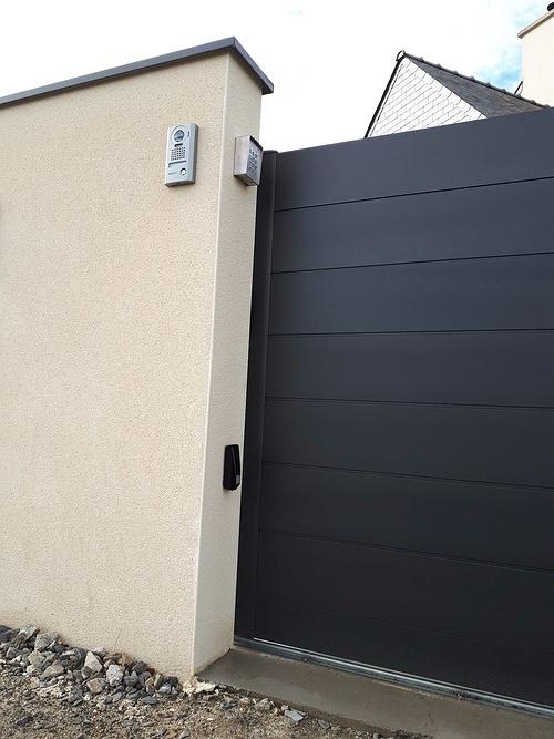 Pose d''un portail aluminium coulissant - Langueux (22) 20181031120447